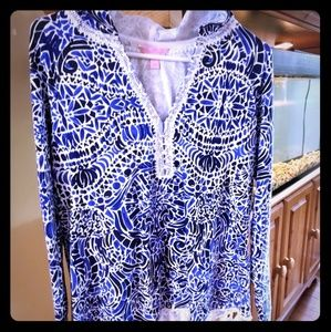 Small lilly Pulitzer pop over never worn no tags